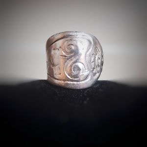 Sterling Silver Freeform Ring, Size 6 1/2